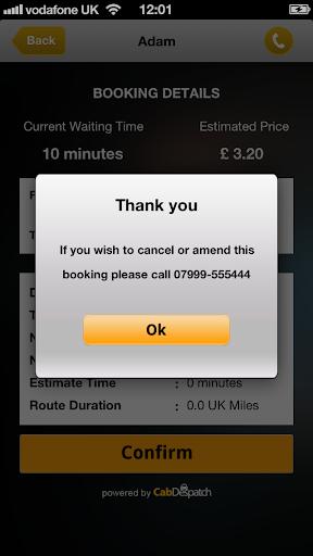 Apollo Taxis Booking App
