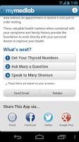 Screenshot of Thyroid App