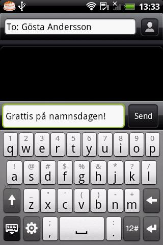 Namnsdagar- screenshot