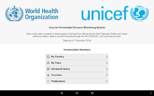 Immunization Summary - screenshot thumbnail