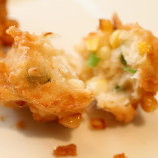 Crunchy Coconut Corn Fritters.