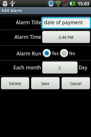Monthly Alarm
