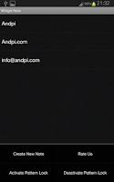 Screenshot of Widget Note
