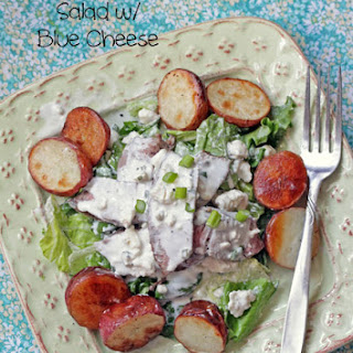 Pepper Steak and Roasted Potato Salad with Chunky Blue Cheese Dressing.