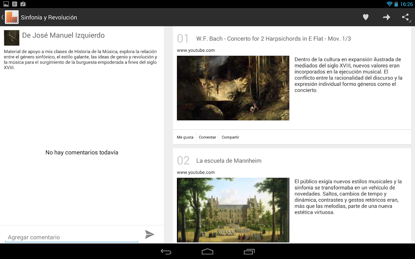 Learnist: captura de pantalla