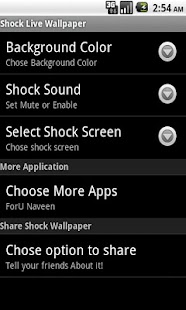 Shock Live Wallpaper - screenshot thumbnail