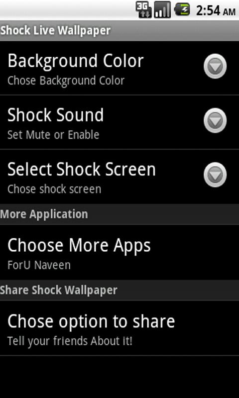 Shock Live Wallpaper - screenshot