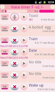 Voice timer F (kitchen timer) - screenshot thumbnail