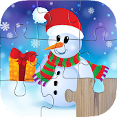 Santa Christmas Jigsaw Puzzles for kids & toddlers