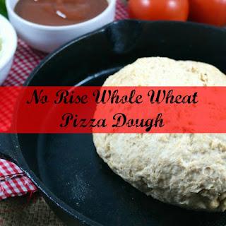 Easy No Rise Whole Wheat Pizza Dough
