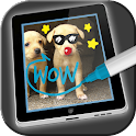 Photo paint for kids icon