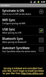 SyncMate for Android - screenshot thumbnail