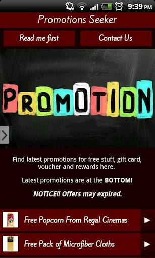 Promotions Seeker