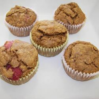 Strawberry and Banana Wholemeal Muffins.