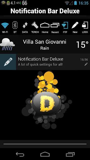 how to change notification bar settings on android