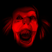 Scary Red Clown Live Wallpaper