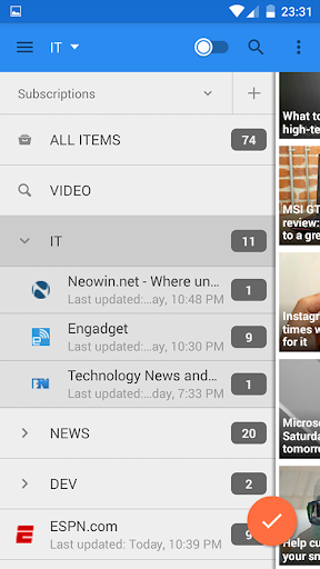 gReader Pro para Android