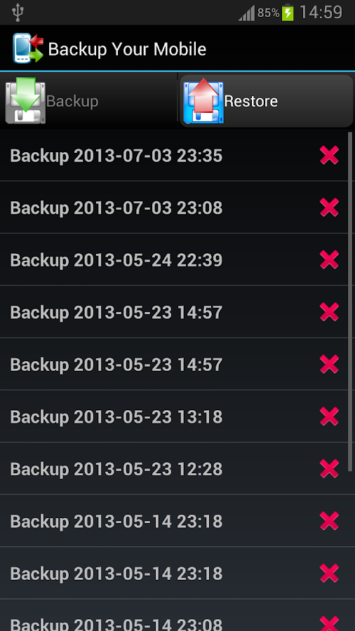 Backup Your Mobile - screenshot