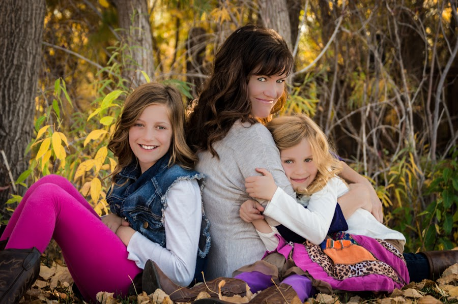 The Girls by Kelly Lynn - People Family ( utah, fall, daughters, leaves, mom )
