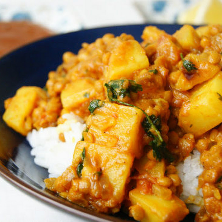 Indian Red Lentil and Potato Dhal Recipe