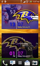 Baltimore Ravens WP with Clock Android Personalization