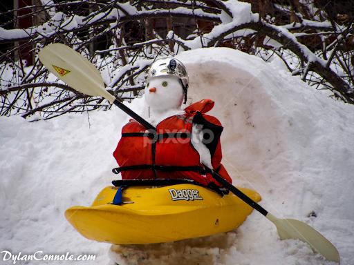 kayak on snow snowman kayaking neighborhoods city street park pixoto