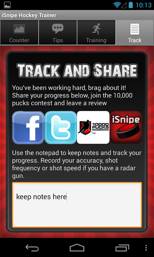 iSnipe Hockey Shooting Trainer - screenshot