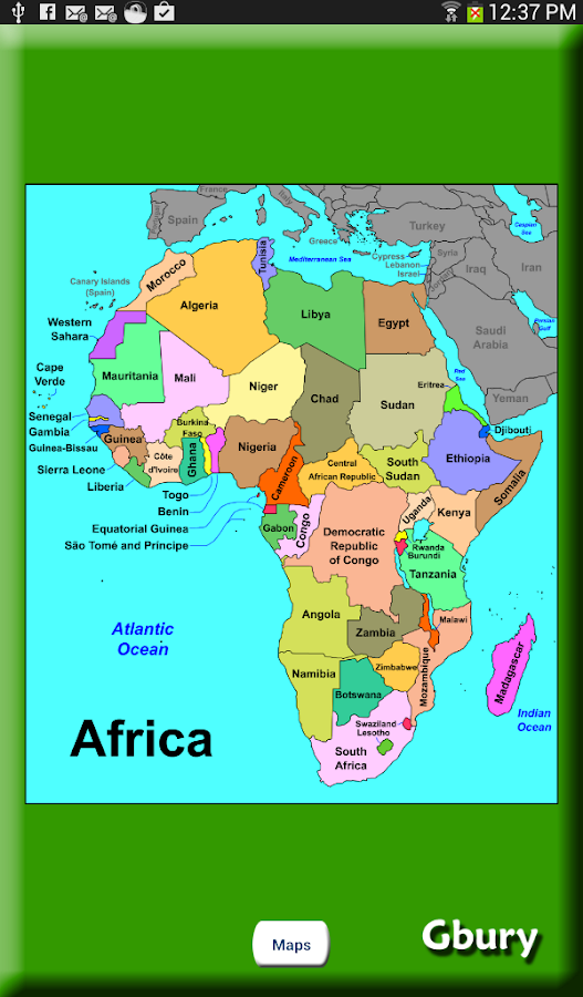African Countries - Learning Level - Sheppard Software