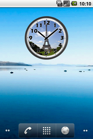 Tour Eiffel Day Clock