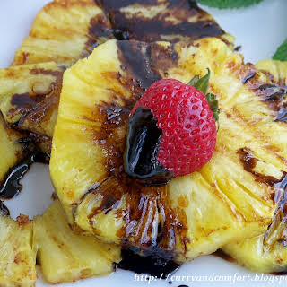 Grilled Pineapple with Balsamic Drizzle.