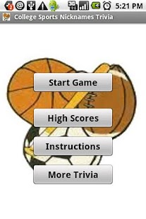 College Sports Nicknames Quiz - screenshot thumbnail