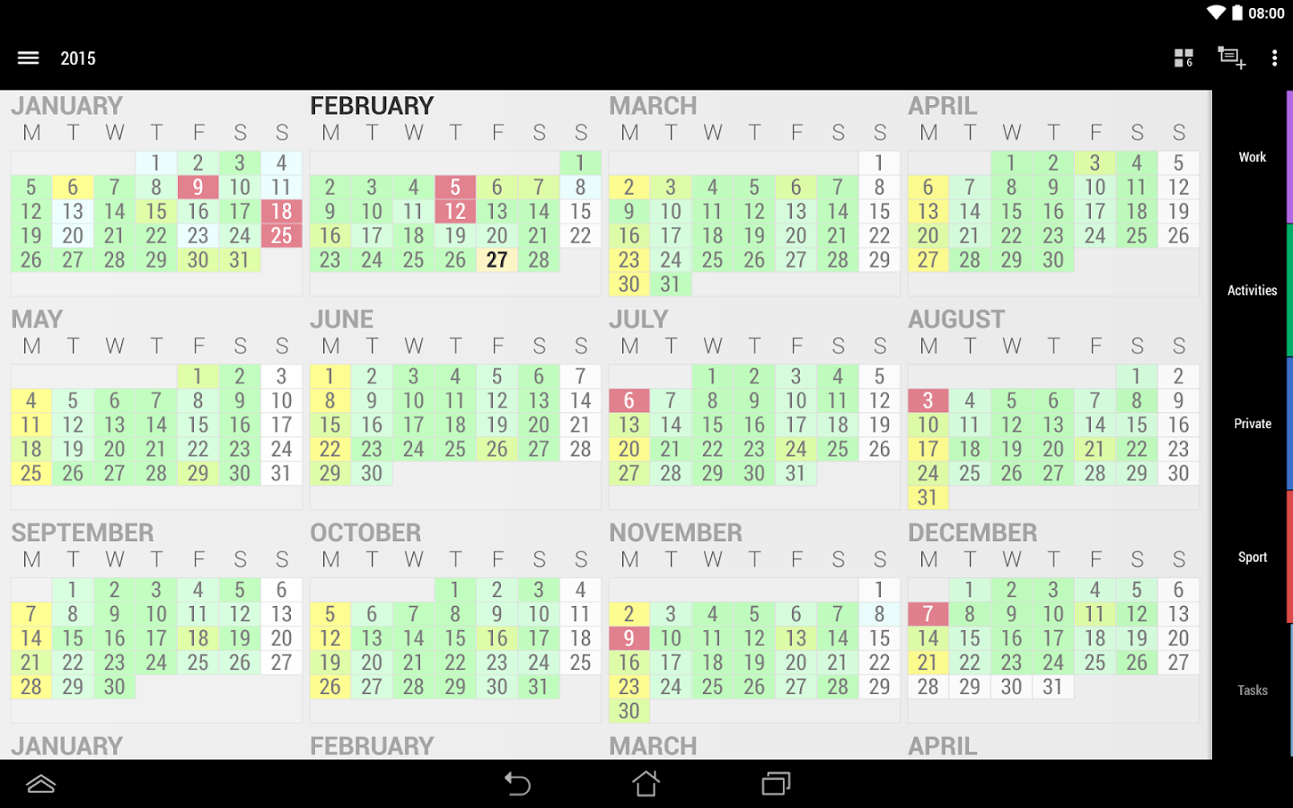 Business Calendar 2 - screenshot