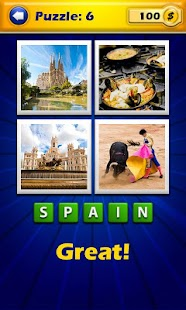 4 Pics 1 Word - Countries - screenshot thumbnail