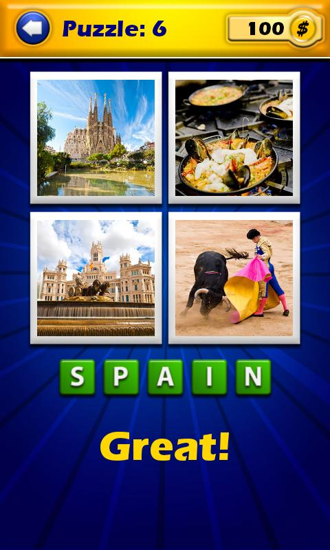 4 Pics 1 Word - Countries - screenshot