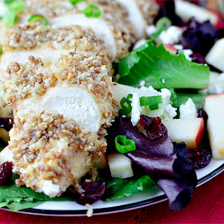 Maple-Pecan Crusted Chicken Salad.
