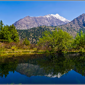 Sat Tal by Manabendra Ghosh - Landscapes Mountains & Hills ( sattal, reflection, snow, harsil, lake )