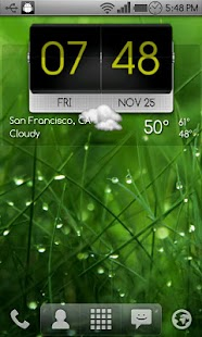 3D Flip Clock Theme Pack 03- screenshot thumbnail