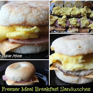 Freezer Meal Breakfast Sandwiches.