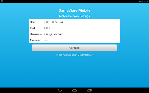 DameWare Mobile for Android- screenshot thumbnail