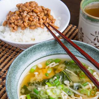 Kale, Butternut Squash and Mushroom Miso Soup.