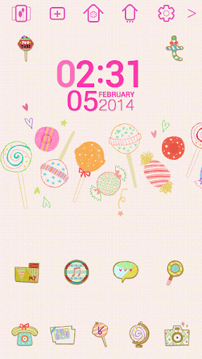 【免費個人化App】lovely candy_ATOM theme-APP點子