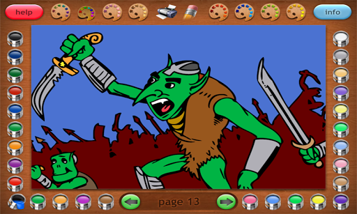 Coloring Book 20 Lite: Goblins