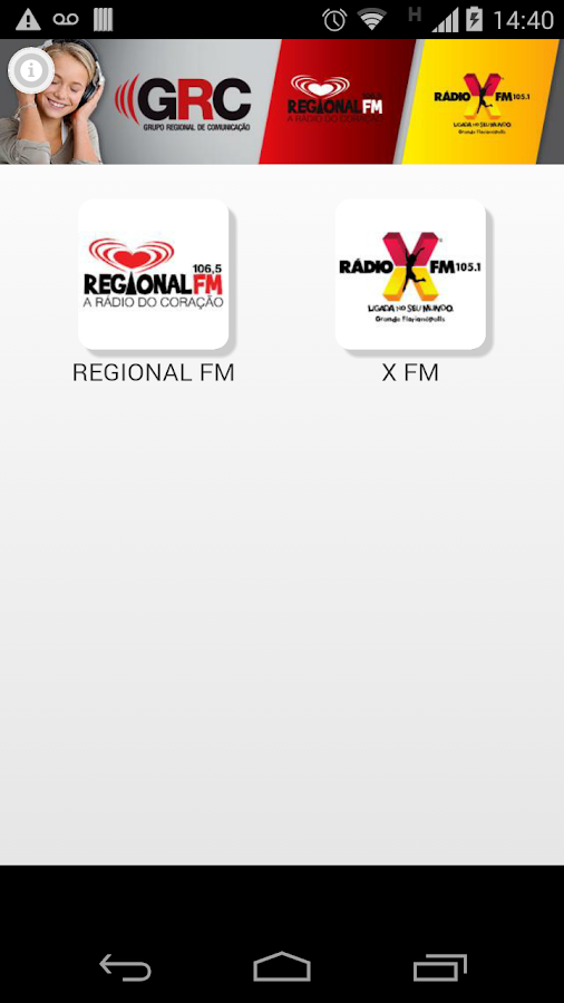 Regional FM- screenshot