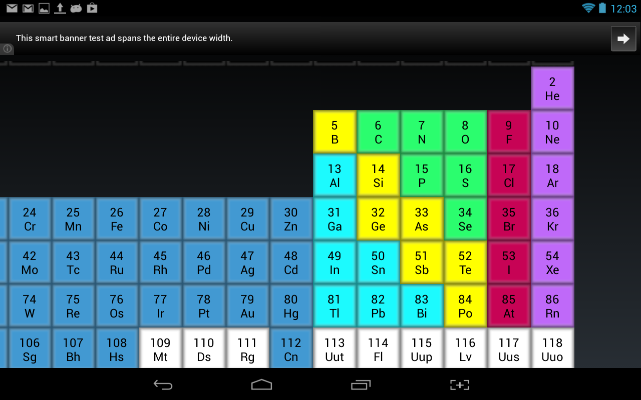 Periodic table of the elements android apps on google play periodic table of the elements screenshot gamestrikefo Gallery