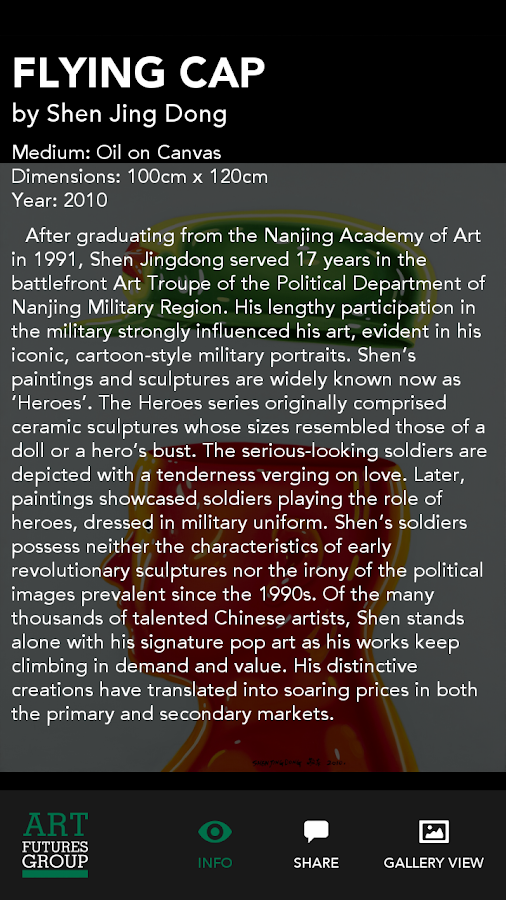 AFG: Art Futures Group Gallery- screenshot