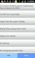 Screenshot of Badminton Information