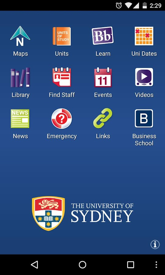 Sydney Uni - screenshot