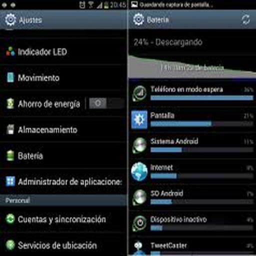 Aumentar baterias en android