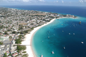 Carlisle Bay fronts Bridgetown, capital of Barbados.