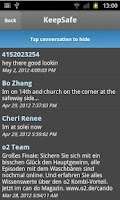 Screenshot of Hide SMS - private text vault